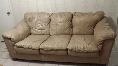 $75, Lane Leather Sofa
