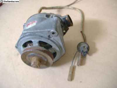 VW 411 bus alternator with wire harness 70 - 79 yr