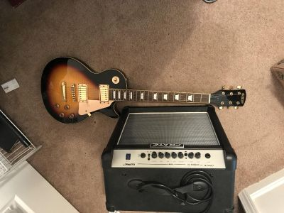 GPX Finder Guitar with Amp