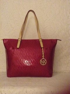 NEW ABA Collection by NX shopper tote in raspberry patent leather,purse,handbag