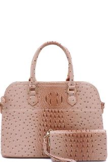 2in1 Crocodile Patterned Dome Satchel | Brand New