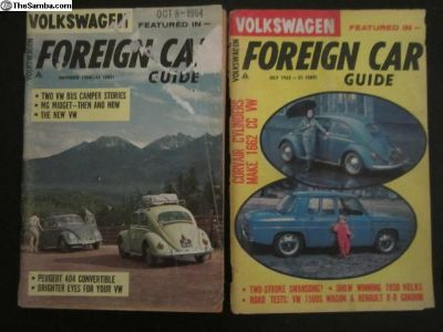 2 Foreign Car Guide 1964 1965