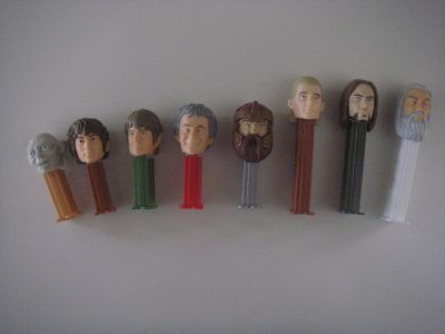 8 Lord of the Rings Pez Dispensers