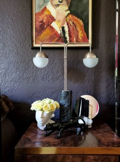 Cb2 Empire Table Marble Lamp