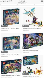 Looking for any Lego Elves sets. Does anyone have any to sell? Thank you.