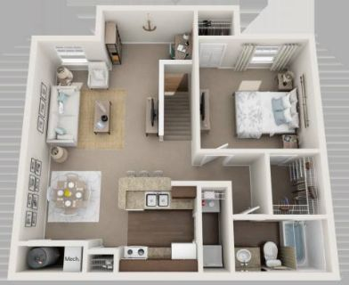1 Bed - Chase Run Apartments