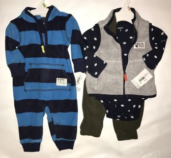 Carters New w/tags Baby Boy 3M 2 Sets