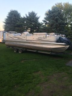 2004 24 ft pontoon with trailer