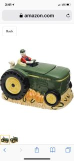 John Deere Collectible Cookie Jar with Fall Pumpkins