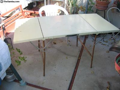 old metal table