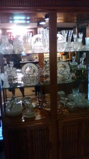 China cabinet and crystal