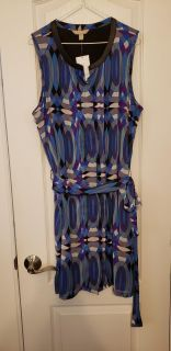 BNWT EEUC GORGEOUS BANANA REPUBLIC STAINED GLASS-PATTERNED DRESS