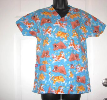 DICKIES SIZE XS DOG AND CATS VETERINARIAN SCRUB TOP