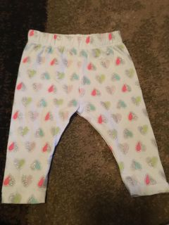 Cat & jack 3-6m heart pants - ppu (near old chemstrand & 29) or PU @ the Marcus Pointe Thrift Store (on W st)