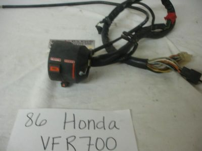 Sell 86-87 Honda VFR-700 Left headlight switch with choke cable. Good Used OEM motorcycle in Terrell, Texas, US, for US $29.95