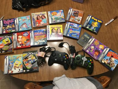 Game boy and advance games and movies.