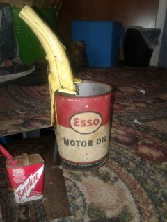 Esso oil can & Midwest gas can