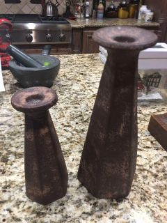 Decorative rustic candle holders