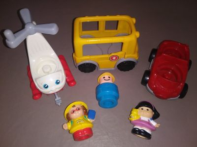 Fisher Price Vehicles w/ detachable Figures