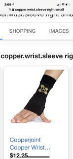 CopperJoint Right Wrist Sleeve Size Small PPU COLUMBIA