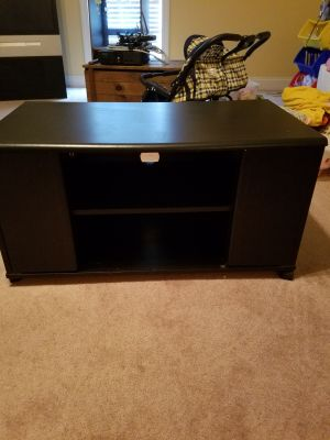 Black Rolling Entertainment Cabinet