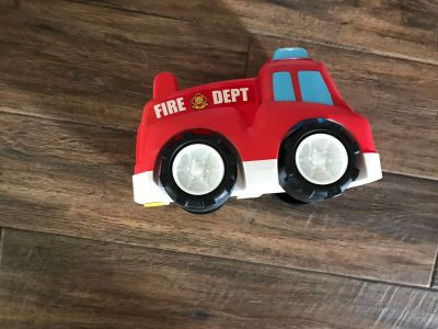 Oversized toy fire truck