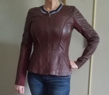 Leather designer lined jacket. Size small. Paid $379. Hardly worn. Excellent condition.