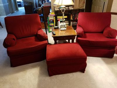 Thomasville Chairs and Ottoman