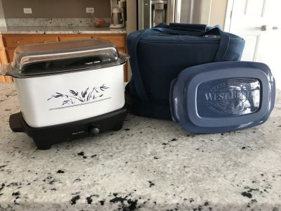 WEST BEND SLOW COOKER 6 QUART PAN With Insulated Tote and Transport Lid