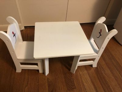 American Girl doll size table set