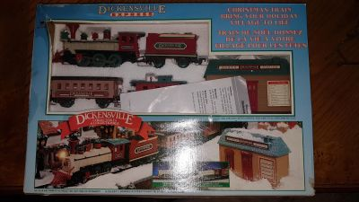 Dickensville Express Christmas Train Set (in box, never used)