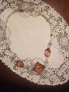 New acrylic and glass bead necklace. Swap only