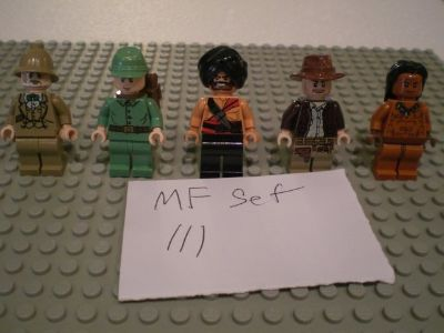5 Lego Indiana Jones Minifigs Group 111