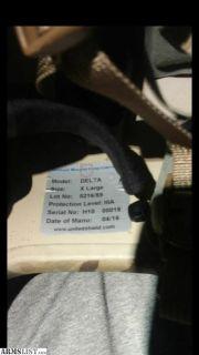 For Sale/Trade: United shield international delta level IIIA helmet