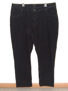 Womens Plus 24W P 24WP Riders by Lee Slim Fit Black Denim Jeans