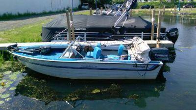 17' aluminum fish & ski boat, 70 hp evinrude, teenee trailer