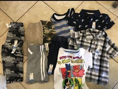 2T Lot - all new with tags: 3 t-shirts, 1 tank top, 4 shorts, 1 pants
