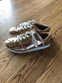 Cat and Jack rose gold sneakers sz5