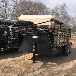 "2018 Delco Trailers | 6'8""x16 
