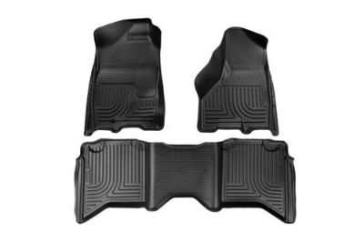 Sell Husky Liners 99001 2009 Dodge Ram Black Custom Floor Mats 1st, 2nd Row motorcycle in Winfield, Kansas, US, for US $170.95