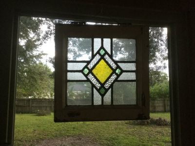 Antique Stain Glass Window small
