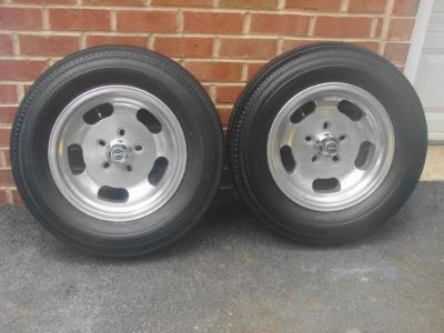 Find VINTAGE 15 X4 5 BOLT SKINNY ROCKET ALUMINUM SLOT WHEELS FIRESTONE 5.60-15 TIRES motorcycle in East Earl, Pennsylvania, United States, for US $800.00