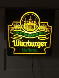 Wurzburger Hofbrau beer electric display sign