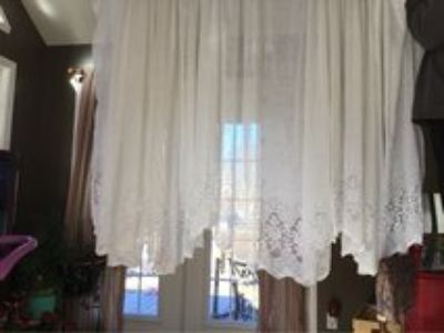 White Sheer Lace Curtains