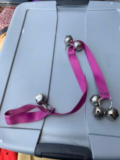 Dog training bell for door handle