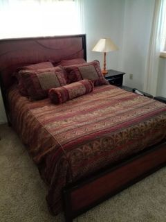 Queen Bedroom set with mattress like new