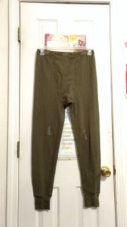 New out of package, Joe Boxer olive green thermal/long john pant. Still has tape from package Size M. Asking $8.00