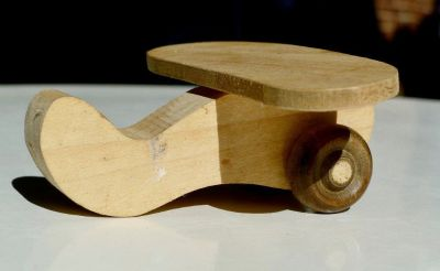 Wooden Plane Toy - 4""