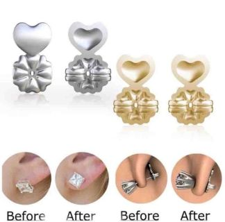 Earring Backings Gold & Silver- Hypoallergenic & Holds Up Heavy Earrings! Only $13 Each Pair!