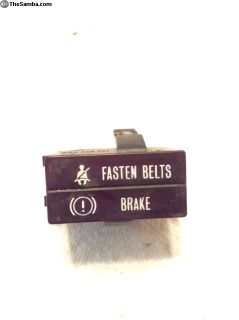 Vanagon fasten belt / brake light